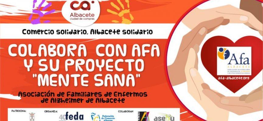El Ayuntamiento colabora con la campaña de comercio solidario 'Albacete Solidario' que pretende apoyar el proyecto 'Mente Sana' de AFA