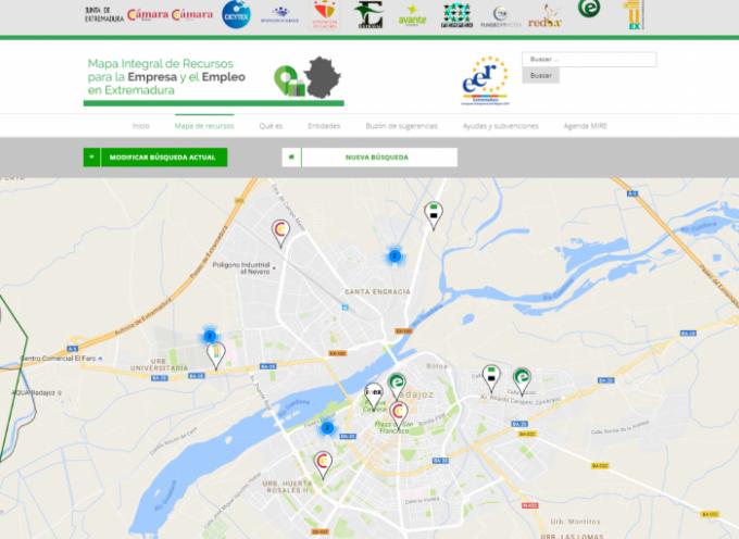 Nuevo Mapa Integral de Recursos para la Empresa y el Empleo en Extremadura