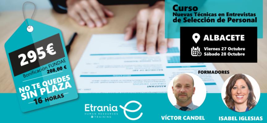 """CURSO """"Nuevas Técnicas de Entrevistas de Selección de Personal"""" #Albacete"""