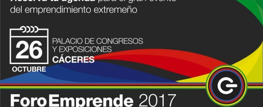 Cáceres acogerá Foro Emprende 2017, punto de encuentro de emprendedores y empresas – 26/10/2017