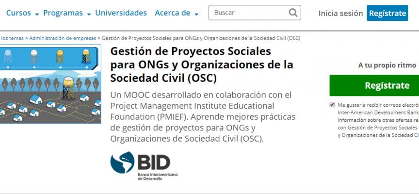 Curso Online Gratis Sobre Gestión De Proyectos Sociales Para ONGs