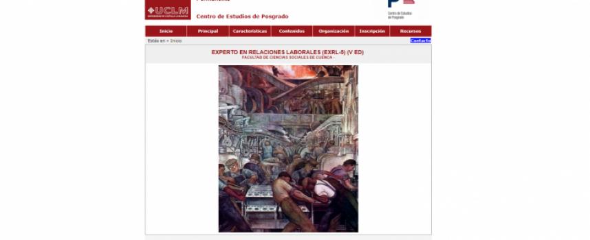 EXPERTO EN RELACIONES LABORALES (EXRL-5) (V ED) . On-Line con plazo de inscripción hasta el 05/02/2018