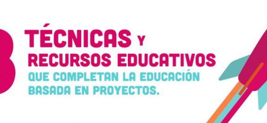 Las 8 técnicas y recursos educativos que completan la Educación Basada en Proyectos.