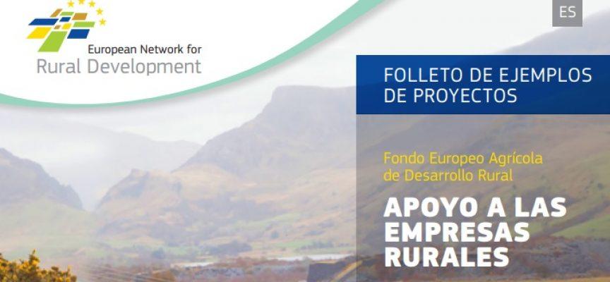 'Apoyo a las empresas rurales', nueva publicación de la Red Rural Europea sobre proyectos FEADER