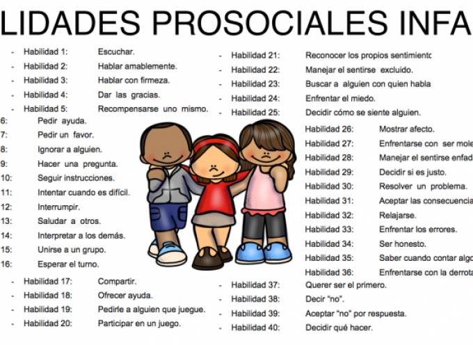 Programa para trabajar las habilidades prosociales en niños de infantil o preescolar