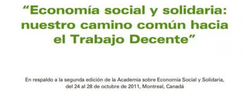 Manual de la OIT sobre economía social y solidaria