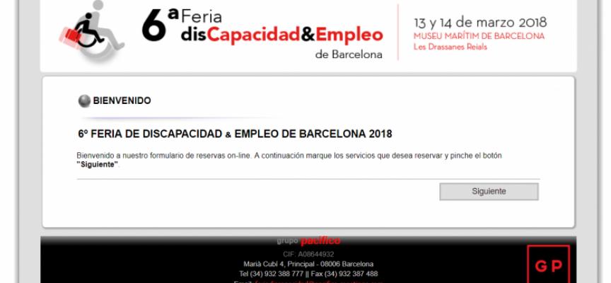 Feria de DISCAPACIDAD & EMPLEO de Barcelona – 13 Y 14 MARZO 2018