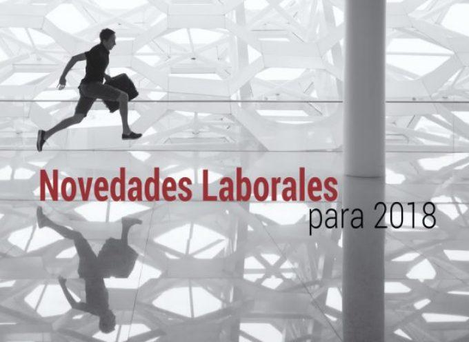 Las novedades laborales para 2018
