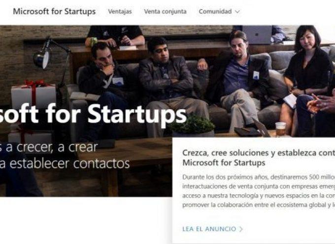 Microsoft lanza un nuevo programa con recursos y entrenamiento para startups