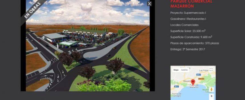 El parque comercial de La Charca creará inicialmente 100 empleos. Puerto de Mazarrón (Murcia)