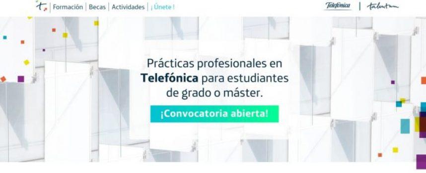 Telefónica convoca las becas Talentum para estudiantes y recién titulados   Plazo 9 de marzo de 2018