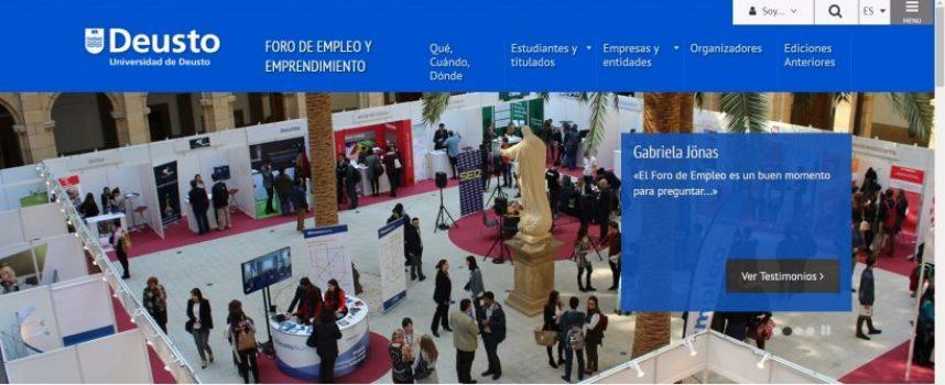 Más de 50 empresas en el Foro de Empleo y Emprendimiento Deusto #Bilbao 14 y 15 marzo 2018