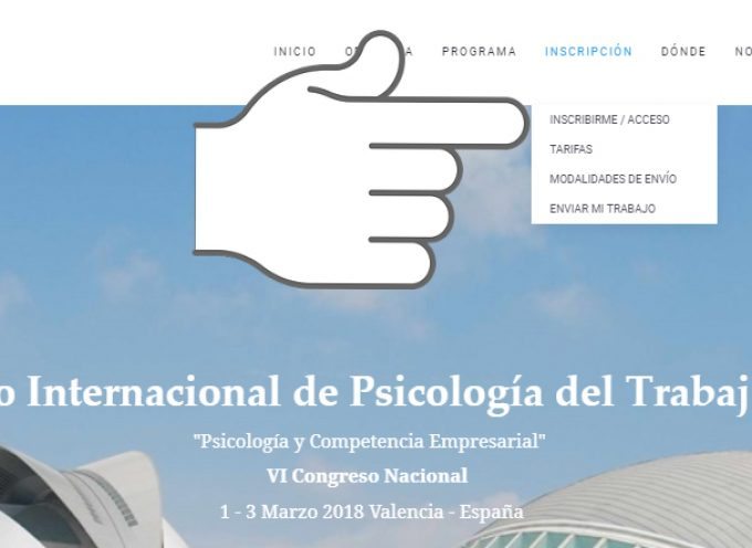 Valencia será la sede del II Congreso Internacional de Psicología del Trabajo y RRHH – Del 1 al 3 de marzo de 2018