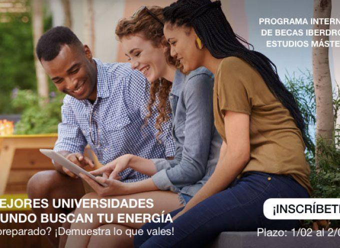 Nueva convocatoria de más de 100 Becas Iberdrola para Estudios Máster
