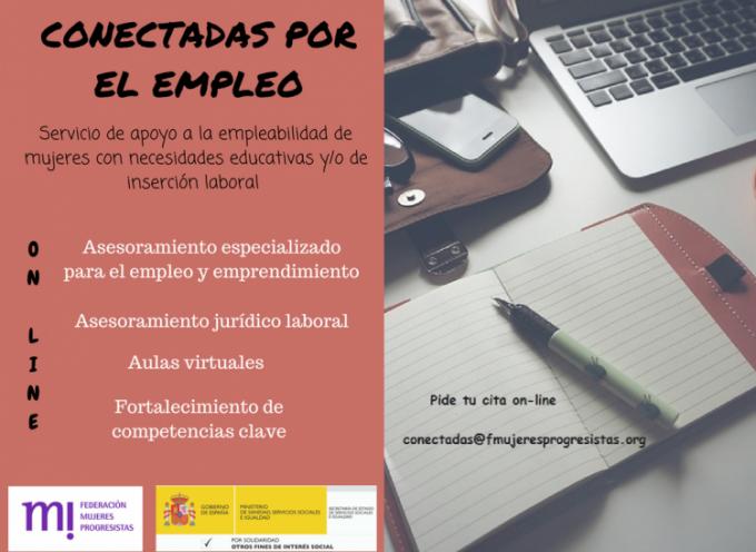 """Interesante Programa  """"Conectadas por el empleo"""" organizado por @fmprogresistas y aula vitual"""