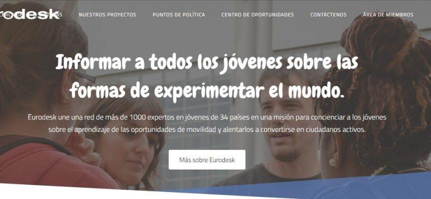 Nueva web de Eurodesk con toda la información europea relevante para los jóvenes