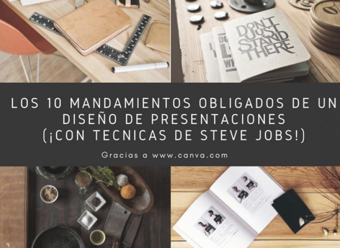 Los 10 mandamientos obligados de un diseño de presentaciones (¡con técnicas de Steve Jobs!)