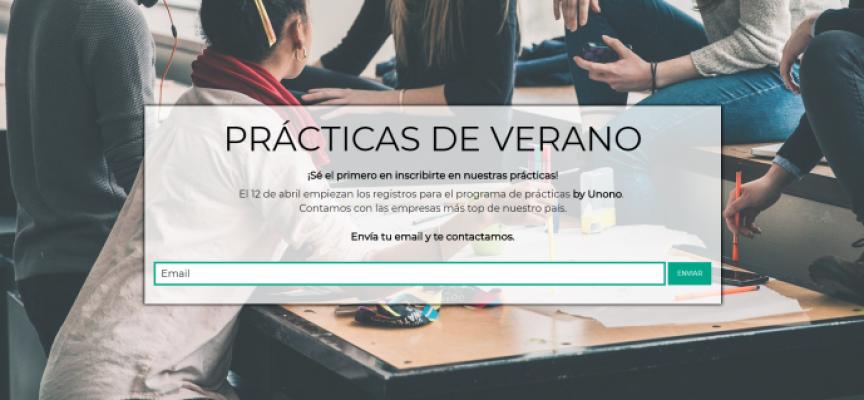 La plataforma Unono abre solicitudes para su programa de prácticas de verano