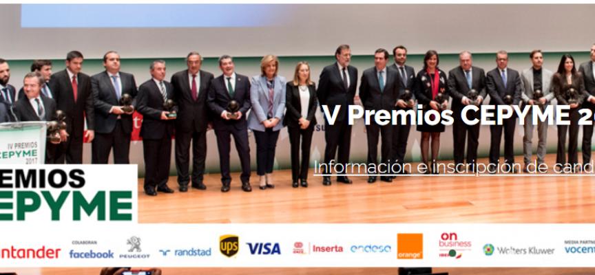 CEPYME convoca los V Premios CEPYME – Plazo 15 de julio de 2018