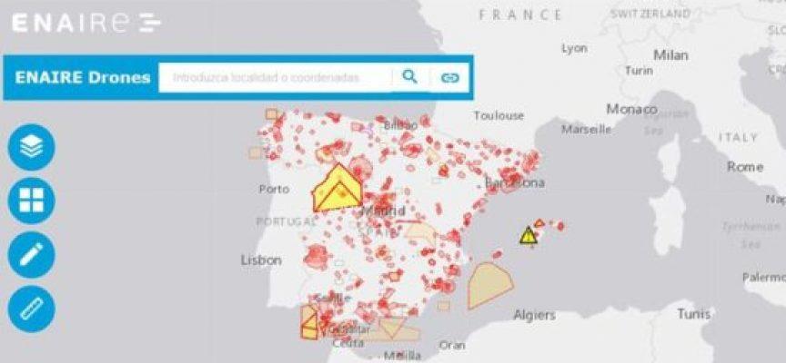 ENAIRE lanza una app para volar drones de forma segura