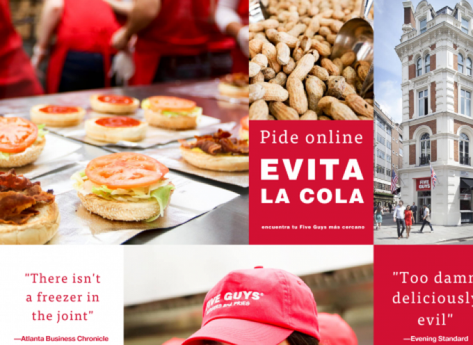El restaurante Five Guys creará 70 empleos en su nuevo establecimiento de Zaragoza