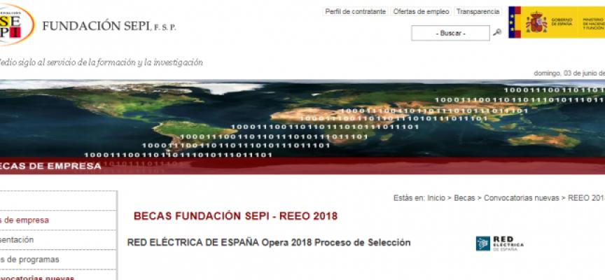 Infórmate programa de Becas 2018 para prácticas en Red Eléctrica Española | Plazo 17/06/2018