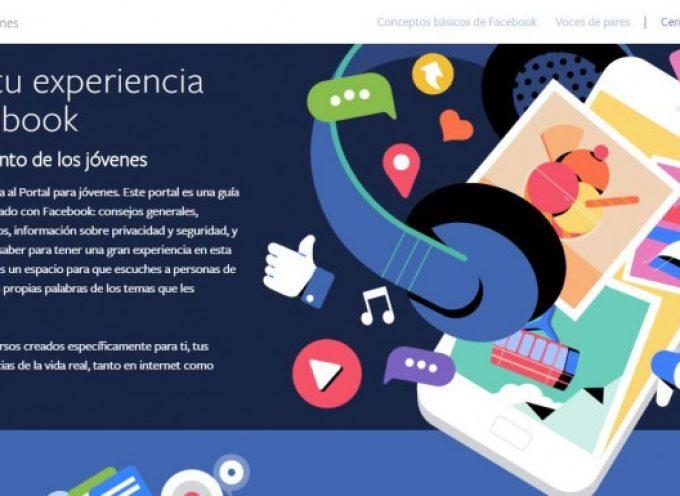 """Facebook presenta el """"Portal para jóvenes"""", para enseñarles a usar la plataforma"""