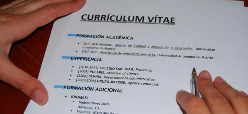 Como hacer el curriculum vitae