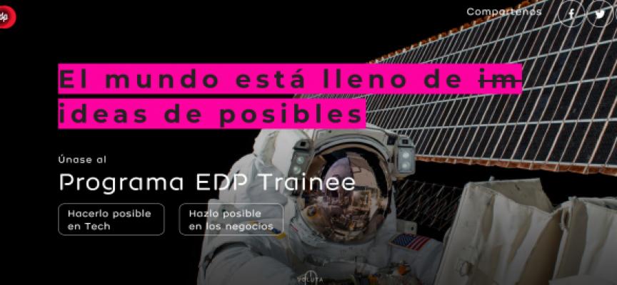 EDP lanza un programa internacional para seleccionar 30 jóvenes | plazo 5 de octubre