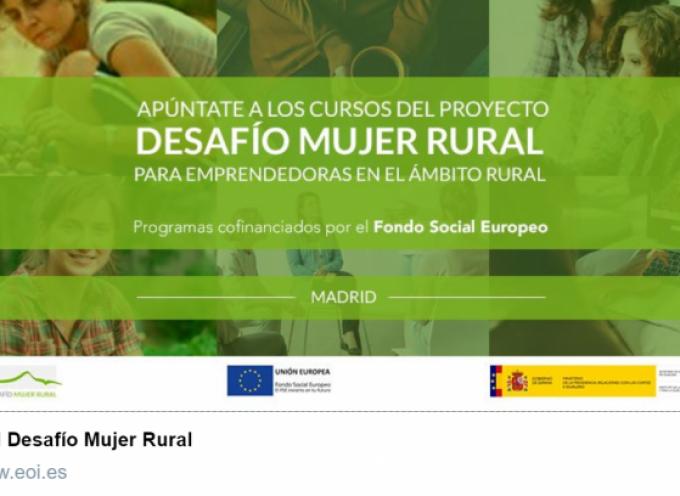 Apúntate a los cursos del Proyecto Desafío Mujer Rural, Cofinanciados por el FSE, para emprendedoras en el ámbito rural.