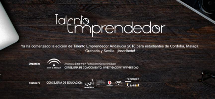 Andalucía convoca la tercera edición de 'Talento Emprendedor'
