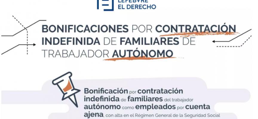 BONIFICACIÓN POR CONTRATACIÓN DE FAMILIARES DE TRABAJADORES AUTÓNOMOS #INFOGRAFIA