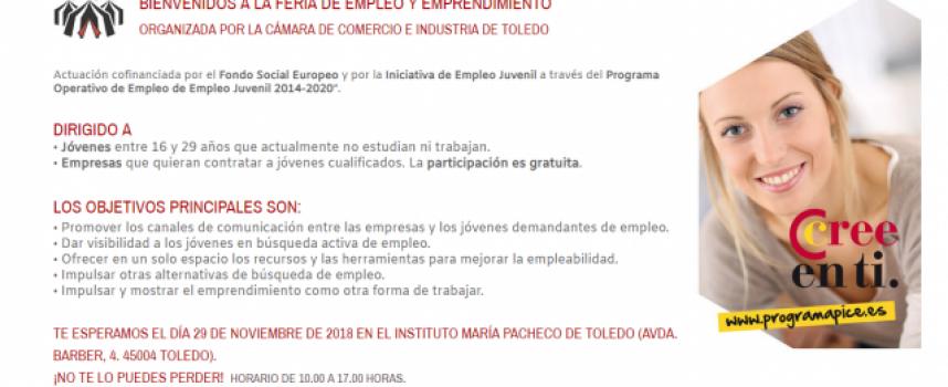 Próxima Feria de Empleo y Emprendimiento en Toledo – 29/11/2019