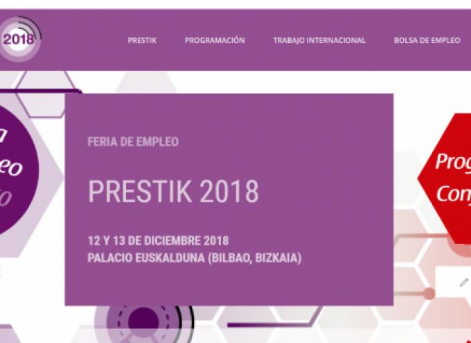 Prestik abre una bolsa de empleo para 150 perfiles profesionales de 50 empresas | 12 Y 13 diciembre