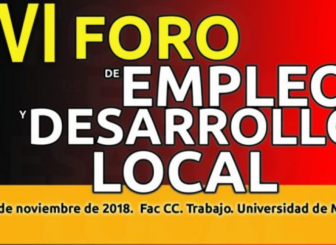 VI Foro de Empleo y Desarrollo Local #murcia 7 y 8 de noviembre