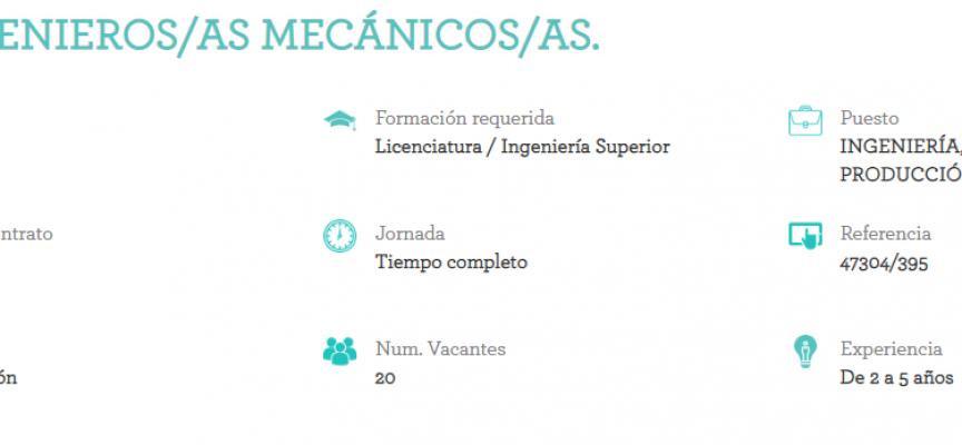 Adecco selecciona ingenieros mecánicos para Valladolid