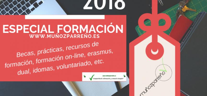Especial Formación 2018 – (recursos, cursos, formación on-line, dual, idiomas, voluntariado, prácticas, becas, etc…)