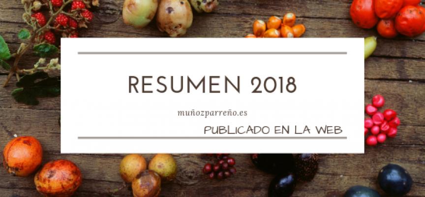 Resumen de las entradas del año 2018