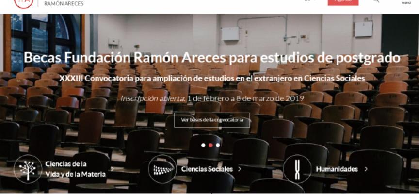 Becas de la Fundación Ramón Areces para estudiar en el extranjero. Plazo hasta el 8 de marzo