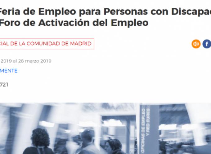 V Foro de Activación del Empleo y XII Feria de Empleo para Personas con Discapacidad