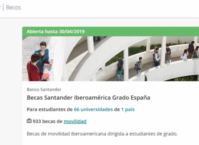 Se convocan más de 1.000 Becas del Banco Santander | Plazo 30 abril de 2019
