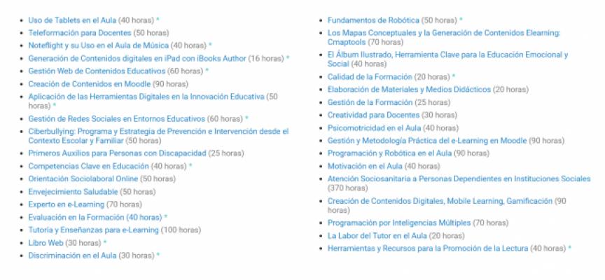 ¡Más de 30 cursos online y gratuitos sobre innovación educativa!