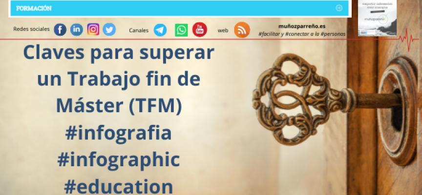 Claves para superar un Trabajo fin de Máster (TFM) #infografia #infographic #education