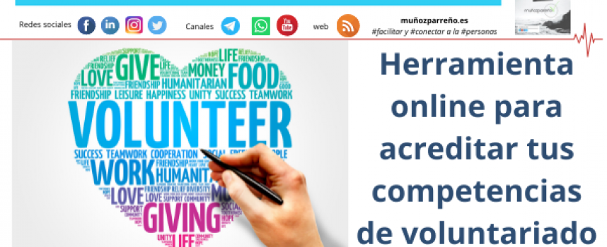 Herramienta online para acreditar tus competencias de voluntariado