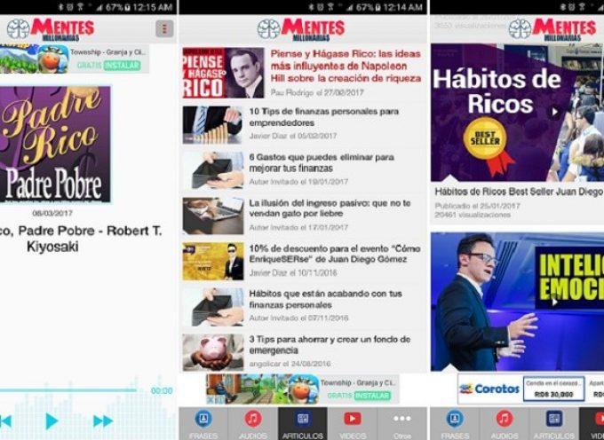 Mentes Millonarias, la mejor app para motivarte con contenido de emprendimiento