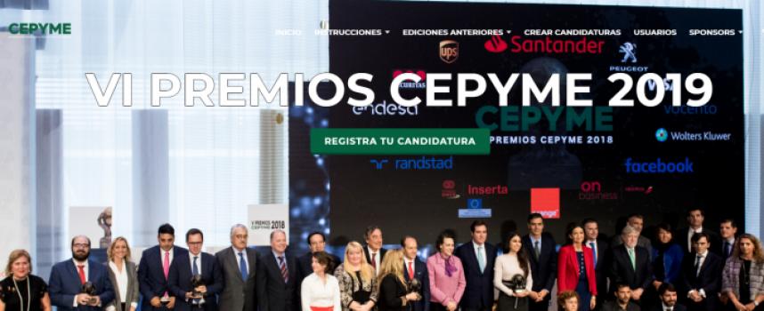 CEPYME convoca los VI Premios CEPYME | Plazo: 15 de julio