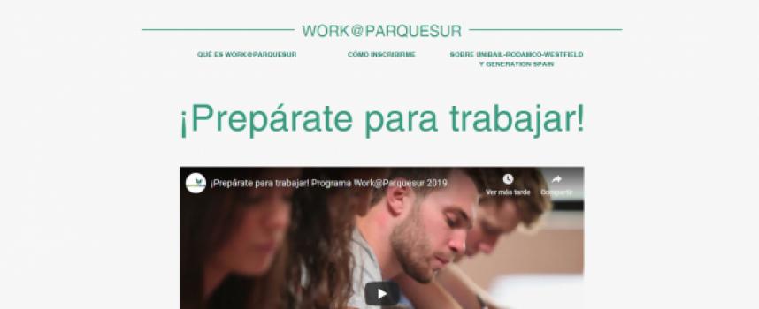 Programa para trabajar en el Centro Comercial Parquesur | Plazo: 19 de mayo de 2019
