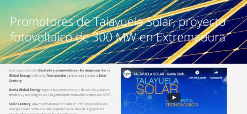 El proyecto Talayuela Solar creará hasta 1050 puestos de trabajo en su construcción
