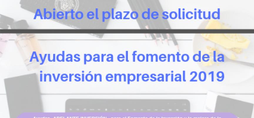 #CastillaLaMancha | Abierto el plazo de solicitud de ayudas para el fomento de la inversión empresarial 2019