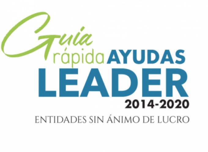 """READER edita en formato digital una """"Guía rápida"""" sobre las Ayudas LEADER para entidades sin ánimo de lucro"""
